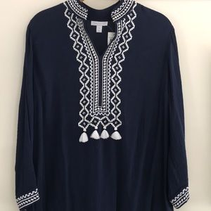 Women's embroidered lightweight tunic.